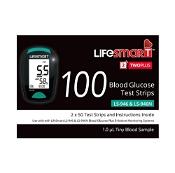 LifeSmart TwoPlus Blood Glucose Test Strips 2 x 50 Strips