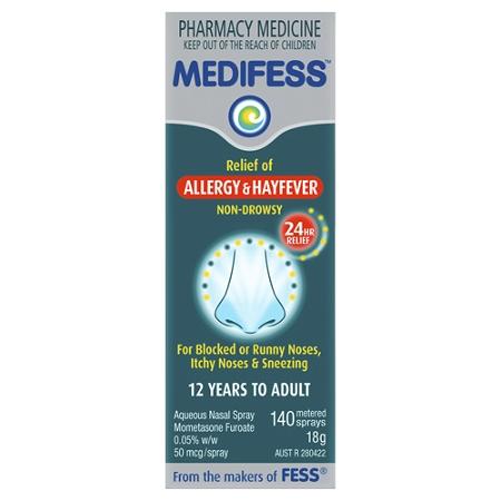 Medifess Allergy & Hayfever Nasal Spray 140 Metered Doses