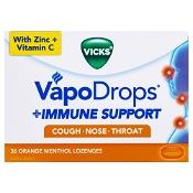 Vicks VapoDrops Immune Support Orange 36 Pack