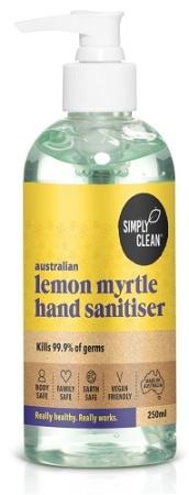 Simply Clean Lemon Myrtle Hand Sanitiser 250ml