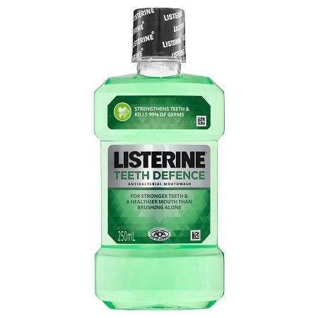 Listerine Teeth Defence Antibacterial Mouthwash 250ml