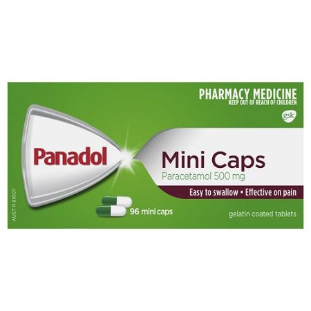Panadol Paracetamol 500mg 96 Mini Caps