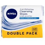 Nivea Refeshing Facial Cleansing Wipes 2 x 25 Pack