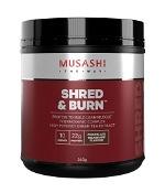 Musashi Shred & Burn Chocolate Milkshake Flavour 340g