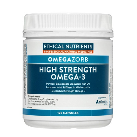 Ethical Nutrients OMEGAZORB Hi-Strength Omega-3 120 Capsules