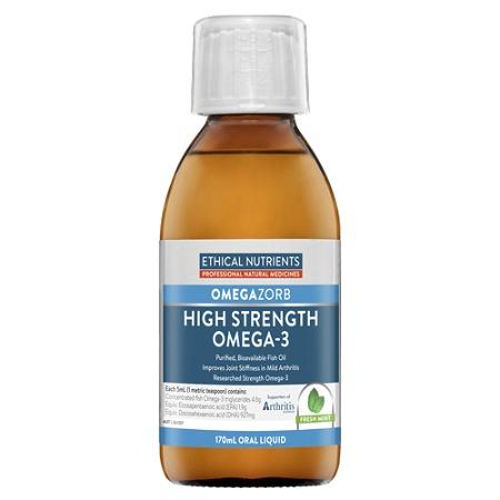 Ethical Nutrients OMEGAZORB Hi-Strength Omega-3 Oral Liquid Fresh Mint 170ml