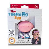 The Teething Egg Pink with Bonus Clip