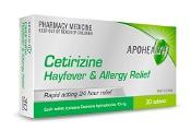 Cetirizine Hayfever & Allergy Relief 30 Tablets APOHEALTH