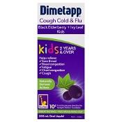 Dimetapp Cough Cold & Flu Black Elderberry + Ivy Leaf Kids 2 Years & Over 200mL