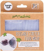 Little Mashies Reusable Stretch Silicone Food Wrap Large (25cm x 25cm)2 Pack
