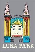 KE Design Tea Towel Luna Park Grey