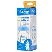Dr Brown's 2 in 1 Transition Bottle Kit Blue