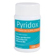Pyridox Vitamin B6 25mg 100 Tablets