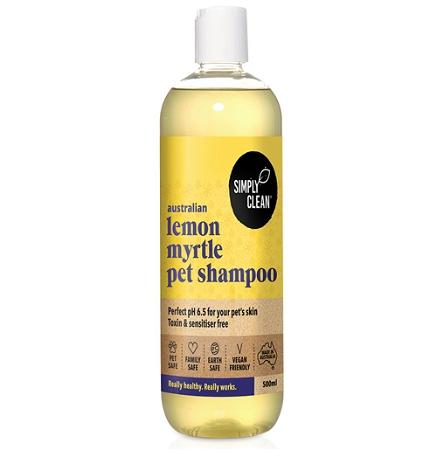 Simply Clean Lemon Myrtle Pet Shampoo 500ml