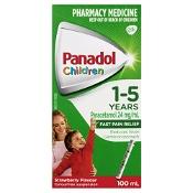 Panadol Children 1-5 Years Strawberry Flavour Colour Free 100ml