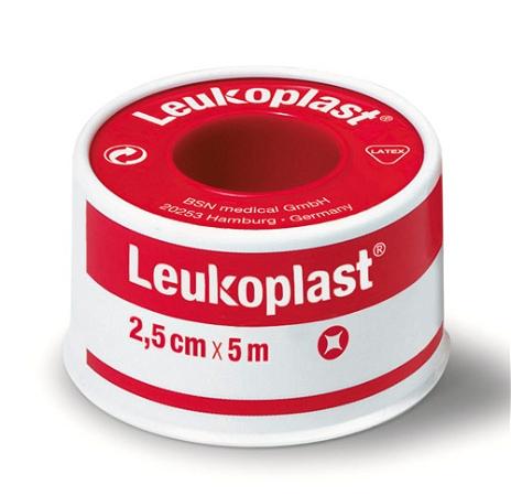 Leukoplast Standard Rigid Tape Tan Red Spool 2.5cm x 5m