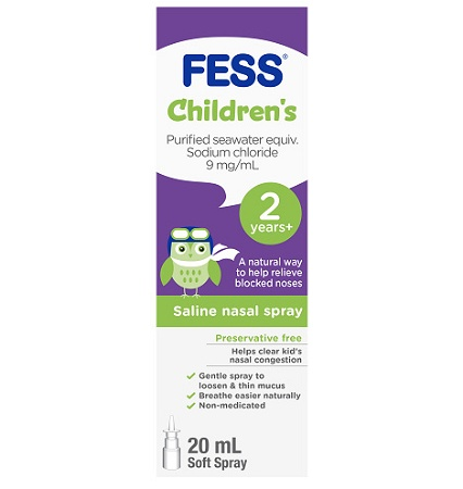 Fess Saline Nasal Spray for Kids 20ml