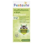 Pentavite Kids Multivitamin + Iron Liquid 200ml