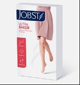 Jobst Ultrasheer Vascular Support Hosiery Thigh High Closed Toe 15-20mm Hg Black Medium