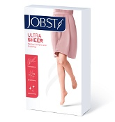 Jobst Ultrasheer Vascular Support Hosiery Thigh High Closed Toe 15-20mm Hg Black Large