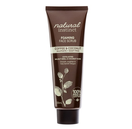 Natural Instinct Coffee & Coconut Foaming Face Scrub 100ml