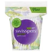 Swisspers Cotton Tips Paper Stem 120 Pack