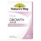 Natures Way Hair Growth Support + Biotin & Silicon 30 Tablets
