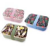 Native Birds Bamboo Lunch Box Assorted Designs (Colour selected at random)