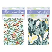 Native Birds Reusable Paper Lunch Bag Assorted Designs (Colour selected at random)