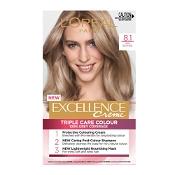 L'Oreal Excellence Creme 8.1 Ash Blonde Hair Colour