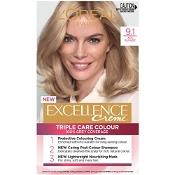 L'Oreal Excellence Creme 9.1 Light Ash Blonde Hair Colour