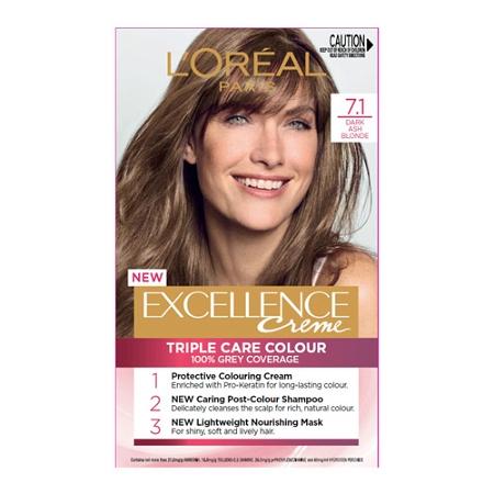 L'Oreal Excellence Creme 7.1 Dark Ash Blonde Hair Colour