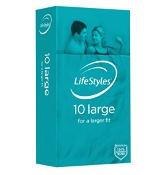 Lifestyles Large 10 Condoms