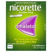 Nicorette Quit Smoking Inhalator 15mg 1 Mouthpiece 20 Cartridges