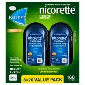 Nicorette Quit Smoking Fruitdrops 2mg 160 Lozenges