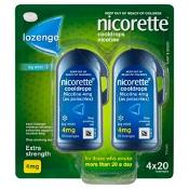 Nicorette Quit Smoking Cooldrops Icy Mint 4mg 80 Lozenges