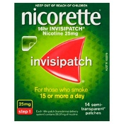 Nicorette Quit Smoking 16hr Invisipatch Step 1 25mg 14 Patches