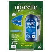 Nicorette Quit Smoking Cooldrops Icy Mint 2mg 20 Lozenges
