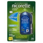 Nicorette Quit Smoking Cooldrops Icy Mint 4mg 20 Lozenges