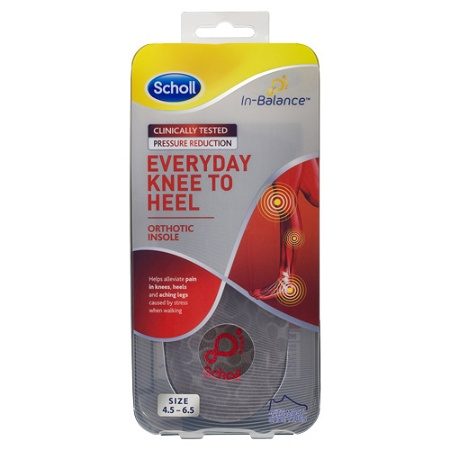 Scholl In-balance Everyday Knee to Heel Orthotic Insole Small