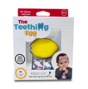 The Teething Egg Yellow with Bonus Clip