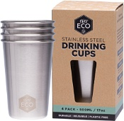 Ever Eco Stainless Steel Drinking Cups 500ml x 4