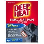 Deep Heat Patches Regular Odourless 2 Pack