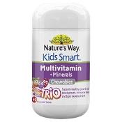 Natures Way Kids Smart MultiVitamin + Minerals Trio Flavour 50 Pack