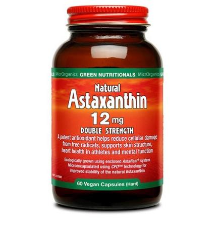 Green Nutritionals Natural Astaxanthin 12mg 60 Vegan Caps