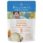 Bellamys Organic Pumpkin Baby Rice with Prebiotic 125g