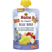 Holle Organic Pouch Blue Bird Pear, Apple & Blueberries with Oats 100g