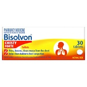 Bisolvon Chesty Forte Cough Tablets 30 Pack