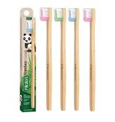 Piksters Bamboo Toothbrush Soft (Colour selected at random)