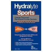 Hydralyte Sports Electrolyte Powder Sachets Orange 12 Pack